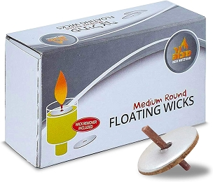 Medium Round Floating Wicks 50 Pk.