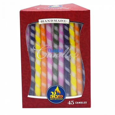 Spiral Chanukah Candles 45 pk.